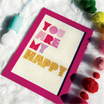 You Are My Happy Glitter Print Nursery Kids Baby Playroom