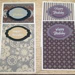 Happy Birthday  Cards  set of 4