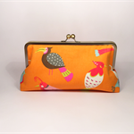 Birds of paradise large clutch purse