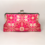 Happy in magenta large clutch purse