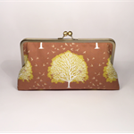 Tree of life large clutch purse