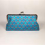 Winter patterns large clutch purse