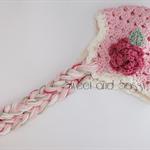 Crocheted Sugar and Spice Beanie 0-3 months