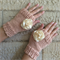 Peach Fingerless Mittens