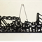 """""""Ship of Stories"""" woodcut"""