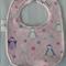 Baby Girl Bib with Penguin motif - Medium.