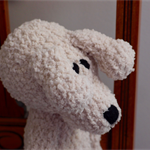 Big Ted: crocheted, plush, chenille, super soft toy bear, unisex, baby shower