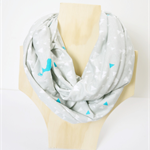 Grey Deer , Infinity Scarf (Snood) Maternity. Breast Feeding /Nursing Cover.