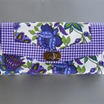 Clutch Purse/Wallet #2      Purple Flora