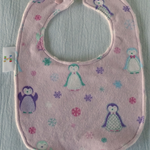 Baby Girl Bib with Penguin motif - Medium.