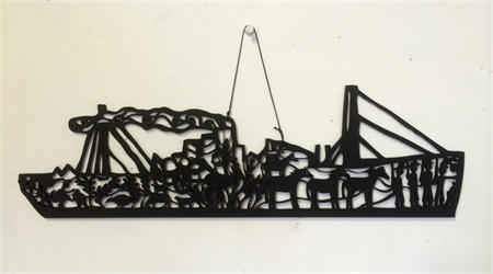 """Ship of Stories"" woodcut"