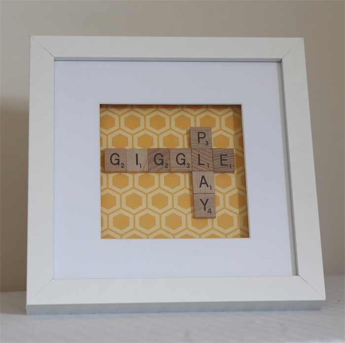 how to make scrabble shadow box