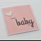 Handmade Baby Card - sweet baby girl