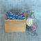 Wooden jewellery box trinket box decoupaged with Japanese koi fish pattern