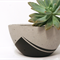 Concrete bowl planter, black design