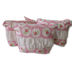 Zip Pouch | Cosmetic Bag | Toiletry Organiser| Travel Bag| Zip Pouch |pink roses