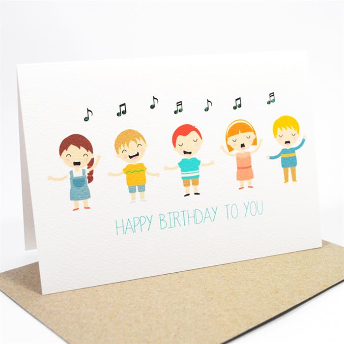 Kids Singing Happy Birthday