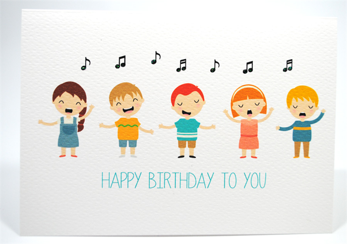 happy birthday card  kids singing happy birthday  hbc  mum, Birthday card
