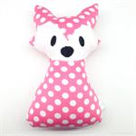Pink Polka Dot Fox Rattle