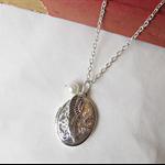 Customisable Literature Locket Necklace Bridesmaid Bridal Silver Wing Charm
