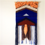 Hand woven wall hanging, tapestry, weaving - 'Myriel' by Tat Georgieva