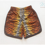 Boys Retro Vintage Tiger Stripe Animal Racer Shorts Pants