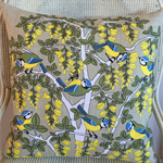 Ulster Linen 'Blue Tits' Tea Towel Cushion Cover 16"
