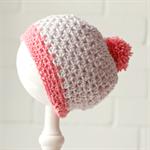 pom pom beanie | crochet wool | baby girl