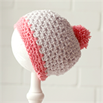 pom pom beanie | crochet wool | baby girl | 6-12 months