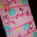 'Pink Foxes' Hair Clip Board / Hair Clip Tidy / Hair Clip Organiser