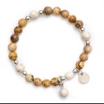Boho Tan bead bracelet