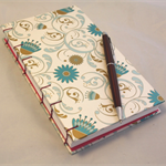 Hand Bound Journal with  Traditional Coptic Exposed Spine Stitching