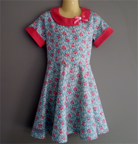Retro Inspired Dress with Circle skirt
