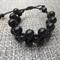 Reserved for Rachael Black Wood Bead Bracelet