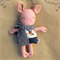 Pig Soft Toy with Scarf
