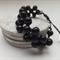 Black Wood Bead Bracelet