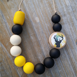 Darling Deer Stag Necklace Yellow/Black/Natural