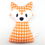 Fox Rattle Orange White Houndstooth