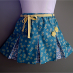 'Yellow Daisies' Pleated Skirt