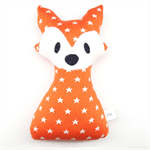 Fox Rattle Orange White Stars