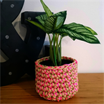 Neon Sprinkle Crochet Rope Plant/Storage Pouch