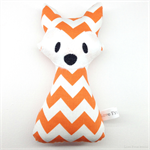 Fox Rattle Toy Orange White Chevron