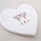 Personalised wedding ring dish, ring holder, Ceramic bowl. Ring pillow.