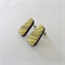 Yellow Striped Large Hanging Wooden Earring Studs