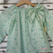 Girls Size 1 Mint Green Peasant Top - Floral
