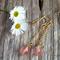 Peach Tourmaline Gemstone Drop Earrings