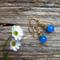 Sky Blue Mexican Opal Gemstone Drop Earrings