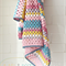 baby blanket | crochet granny stripes | newborn baby girls gift | wool