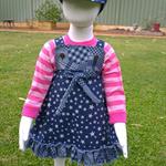 All Denim 3 piece Outfit Cap, Dress, T-Shirt. Size 18 months - 2 years