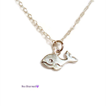 Tiny whale necklace, sterling silver, minimalist necklace
